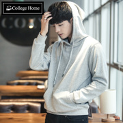Hoodie men set solid tide head cap Korean students sports coat autumn tide brand men's men's hoody