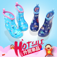 17 new foreign trade on a single male and female rain boots splashing sand crystal jelly rainbow children slip boots