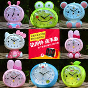 Cute cartoon children talking alarm lazy voice mute music creative luminous Bedside Alarm Clock