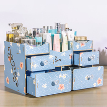 Wooden desktop cosmetic storage box drawer type bedroom skin care product finishing box
