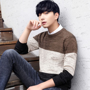 The winter men's sweaters and cashmere sweater sweater T-shirt thickening trend of personality in men's coat