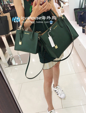 United States Genuine Shopping MK Handbags Yang Mi Same Mercer Lock Bag Shoulder Messenger Bag Ink Green Large