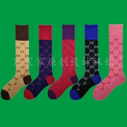 New winter tide brand knitted socks socks catwalk knee socks knee stockings stockings female socks cotton tube