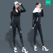 Autumn Couture fast dry running fitness gym suit jacket vest equipment Korean Yoga suit