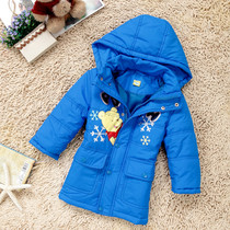 2016 small children in padded winter coat boys jacket hooded long warm coat