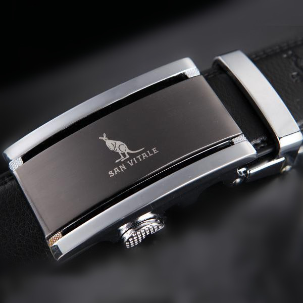 Every day special offer authentic male kangaroo leather belt belt Metrosexual belt buckle automatic Korean shipping
