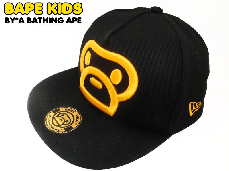 潮牌BAPE2017儿童网帽子男女童潮帽棒球帽鸭舌帽卡通遮阳亲子帽