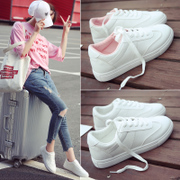Autumn and winter all-match street beat female students a warm Korean white shoe plus velvet canvas shoes, sports and leisure shoes