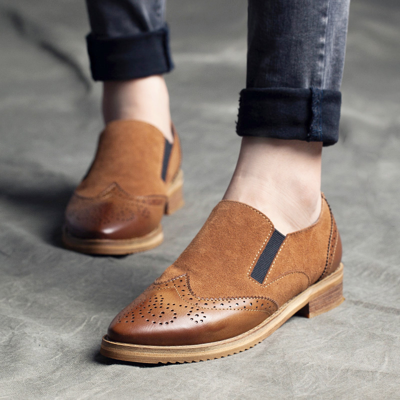 2015 new trends autumn Brock, thick-soled casual retro shoes NV skin wind of England ladies shoes