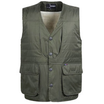 Older plus plush warm winter cotton vest sleeveless Daddy middle-aged mens padded waistcoat more than plus Pocket vest