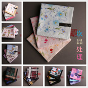 Mu Ji (defective) and Ms. men's cotton handkerchief handkerchief handkerchief handkerchief absorbent treatment