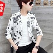 Summer youth sleeve small suit, men seven points, sleeves Korean version of small suits, young self-cultivation thin, casual single suit