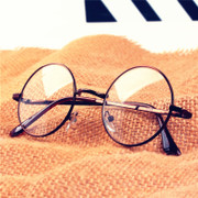 Round glasses Han Guochao round metal spectacles frame retro female Gold Mens Harajuku eye glasses frame
