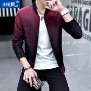 In the spring of 2017 new men's coat young Korean thin Jacket Mens Casual clothes gradient tide baseball uniform