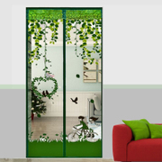 Mosquito curtain magnetic soft screen encryption household air conditioning in summer bedroom kitchen partition curtain window screen curtain fabric