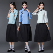 Republican students wear long skirts, women 54, youth suits, Republic suits, costumes, Republic clothing, Republic of China, women's clothing