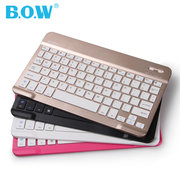 BOW wireless mobile phone, Bluetooth keyboard, Android apple, iPad tablet PC, mini keyboard, universal thin