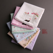 And Mu Ji (splendid edge) cotton handkerchief handkerchief embroidered handkerchief handkerchief Ms. NEW