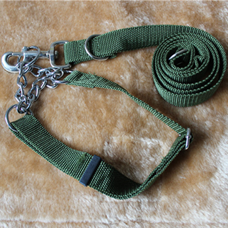 The huge dog collars traction rope with the dog Husky dogs samoyed dog Tibetan mastiff collar Traction dog chain