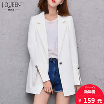 Spring new ladies casual little slit at the suit in the Korean version of the slim long shirts long sleeve jacket suit size