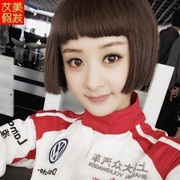 Short straight hair wig girl BOBO handsome head of the first wave of Korean style mushroom head Zhao Liying