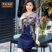 Thousands of Yi mother love wedding dress summer middle-aged women's lace dress in old clothes size