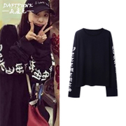 The new version of BF wind tide ulzzang Harajuku lovers letter sweater long sleeved t-shirt female punk loose