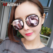 2017 New South Korean personalized Polarized Sunglasses with the same paragraph GM Sunglasses ladies round face men's myopia glasses