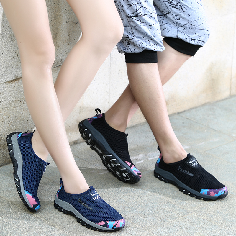 Spring and summer outdoor shoes, hiking shoes, women's shoes, travel shoes, breathable net shoes, mountaineering shoes, women's shoes, anti slip lovers