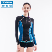 Decathlon's flagship sunscreen suit female body surfing long sleeved swimsuit jellyfish clothes quick drying SBT