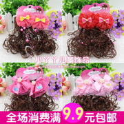 South Korean children wig headdress little girl butterfly knot hairpin baby hair comb Princess fashion clip