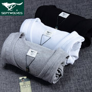 Septwolves vest cotton shirts slim type shirt vest male Han Banchao Summer Youth Movement