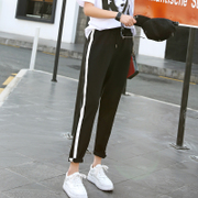 2017 new spring tide students sports pants pants all-match loose Harajuku BF Haren nine Korean casual pants