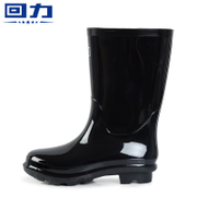 Male warrior boots boots genuine single high tube in tube water shoes shoes slip boots kitchen three male shoes
