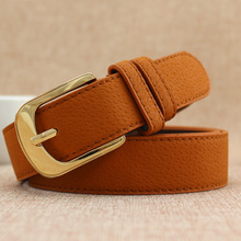 Yellow letters BF double embroidery all-match wind belt female Korean wide canvas belt belt and male female decoration