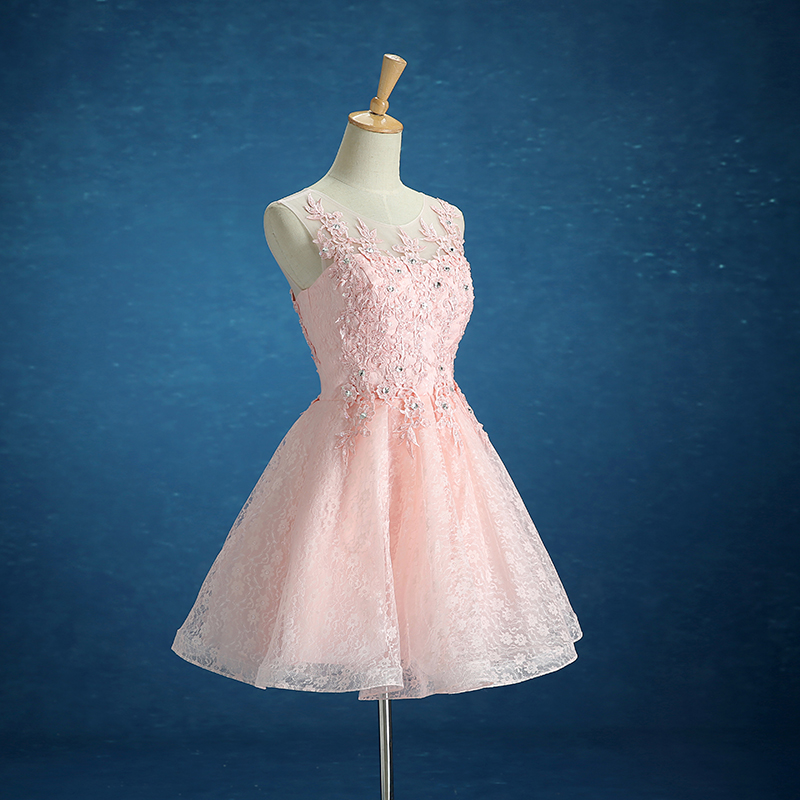 The new dress 2015 a toast to the bride dress pink cultivate one's morality dress bridesmaid dresses sister skirt short winter package mail