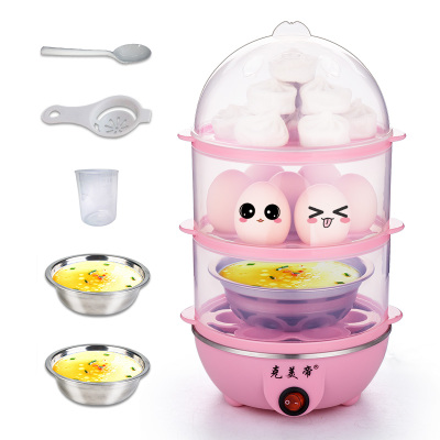 Multifunctional stainless steel double boiled egg egg egg machine automatic power-off Steamed chicken cake machine