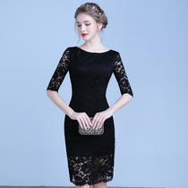 Qipao short 2017 new spring fashion improvement daily MIDI girls dresses lace party dress