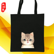The Korean version of the simple canvas bag handbag shoulder bag women students wholesale shopping bags customized logo