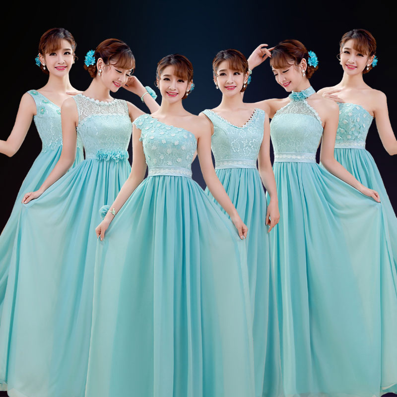 The new 2015 bridesmaid dresses and sisters dress long sleeve bridesmaid dresses in the autumn fashion long take winter party a toast to the bride