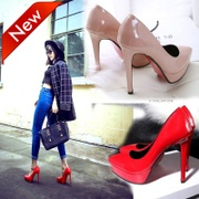 High heeled shoes and 12cm female new spring tip waterproof fine with female shoes red wedding shoes
