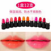Lipstick sample lasting moisture moisturizing lip biting color crayon Box Set 12 a matte color lipstick