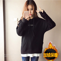 Fat sister plus velvet loose fat mm2016 winter sweater women size long 200 pounds in a new coat