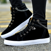 Dily star 9a11c high shoes men's casual shoes shoes soled Korean dance shoes tide male students