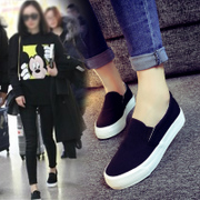 In the autumn of 2017 new flat white canvas shoes shoes all-match pedal Korean students lazy autumn shoes