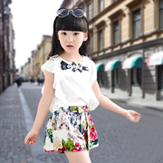 Big boy Kids Girls 2017 new summer clothes in Korean children's short sleeved casual tide two dresses in summer