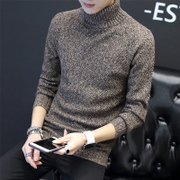 Men with male cashmere turtleneck sweater in winter sweater sweater coat young Korean cultivating students tide