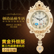 Conbas 20 inch European style retro swing clock simple fashion watch the living room bedroom mute quartz clock