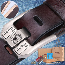 belt male leather pin buckle belt Korean youth pure leather Men's belt casual leather belt middle-aged men's leather belt