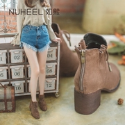 Such as hee boots 2017 female in autumn and winter with thick boots and boots new small Martin boots shoes high-heeled shoes